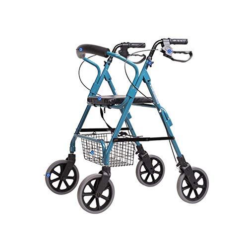 Arredamento per la casa Decorazione Ausilio per la deambulazione multifunzione Carrello della spesa con ruote antiscivolo impermeabile pieghevole adatto per anziani Carrello per disabili portatile
