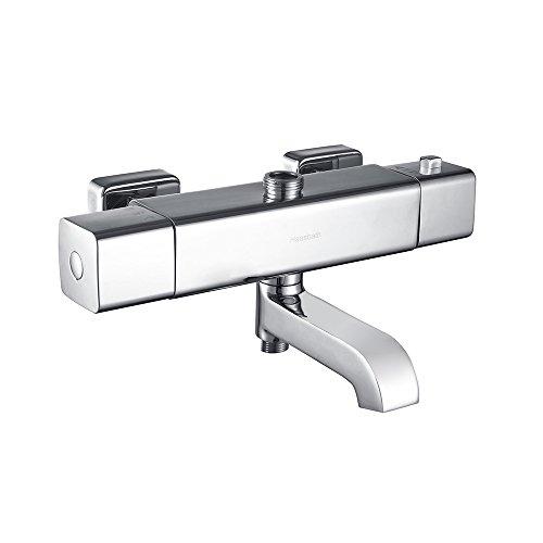 Hausbath Wannenarmatur Wandmischbatterie mit Duschthermostat Brausethermostat Thermostat Duscharmatur