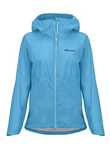 Marmot Damen Hardshell Regenjacke, Wasserdicht, Winddicht & Atmungsaktiv Wm's Bantamweight Jacket, Enamel Blue, L, 36040*