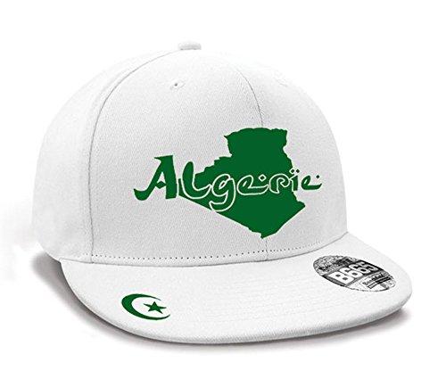 Casquette Hip Hop Algérie Mini Pays Blanc et Vert Émeraude