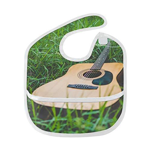 Ventilatori di musica per chitarra elettrica morbidi lavabile macchia e anti odore bambino alimentazione gocciolamento bavaglini panni per il neonato complessivo per 6-24 mesi regali per bambini