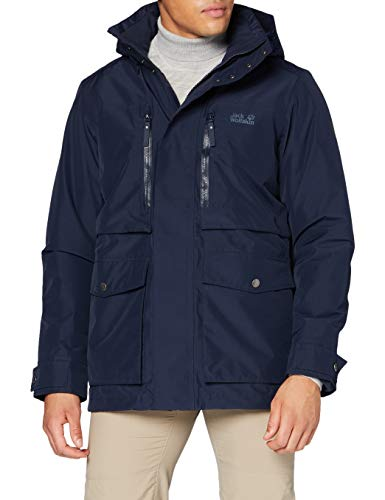 Jack Wolfskin Herren Bridgeport Bay Jacket Winterjacke, Night Blue, XXL