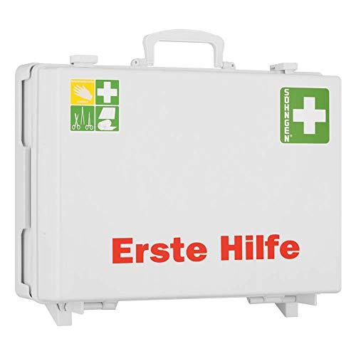 SÖHNGEN Erste-Hilfe-Koffer MT, mit Wandhalterung, weiß, ASR A4.3 / DIN 13169, mit PRÜFPLAKETTE