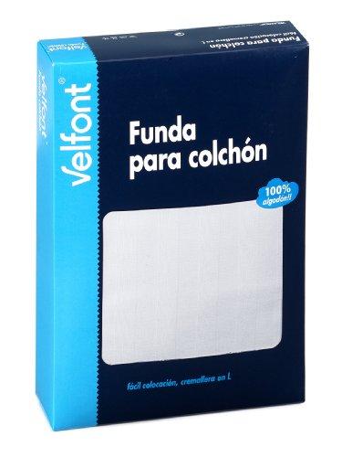 Velfont VELAMEN - Funda col. algodón 100% 150x190 Blanco Raso labrado