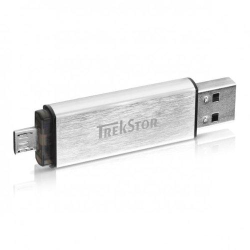 TrekStor USB-Stick DUO USB 2.0 32 GB silber