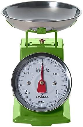 (Green) - Excelsa Vintage Green Kitchen Scales 3 Kg./10 Gr.