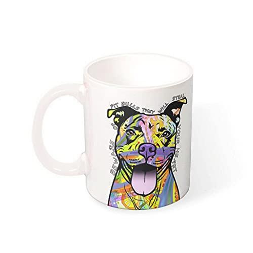 CCMugshop Divertida taza de café de cerámica, divertida impresión de grafiti, clásica, color blanco, 330 ml