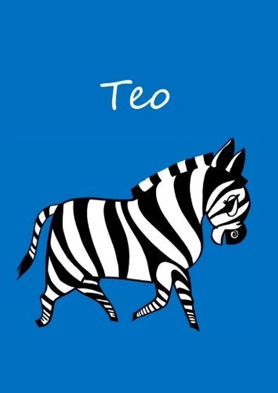 プレゼンテーション王女気配りのあるTeo: individualisiertes Malbuch / Notizbuch / Tagebuch - Zebra - A4 - blanko