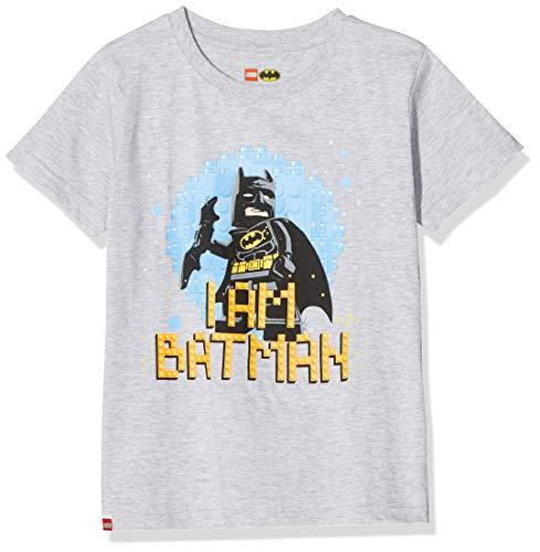 LEGO Jungen cm Batman T-Shirt, Grau (Grey Melange 912), (Herstellergröße: 116)