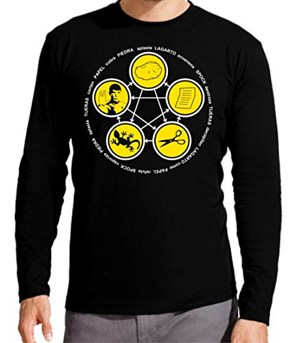 Camiseta Manga Larga de Hombre The Big Bang Theory Sheldon Bazinga Penny Leonard 015 S