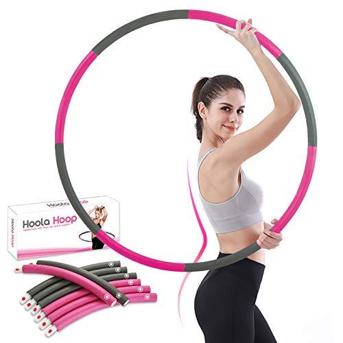 FYPARF Hula Hoop - Aro de pérdida de peso para niñas, modelo de 8 secciones, desmontable para mujer, equipo de pérdida de peso