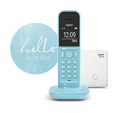 Gigaset CL390 schnurloses Design-Telefon ohne Anrufbeantworter (DECT Telefon mit Freisprechfunktion, großem Grafik Display, leicht zu bedienen mit intuitiver Menüführung) purist blue