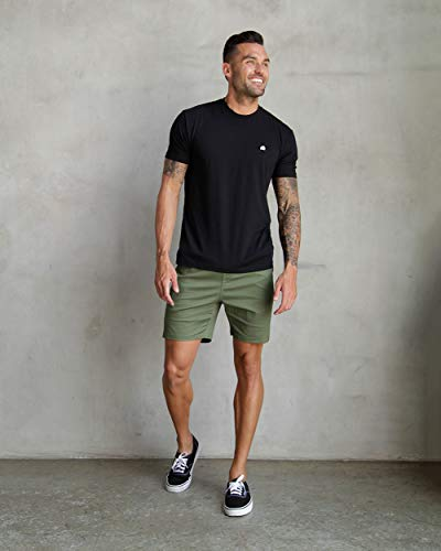 INTO THE AM Men's Fitted Crew Neck Basic Tees – Premium Modern Fit Short Sleeve Plain Logo T-Shirts for Men
