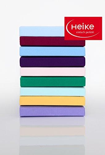 Multistretch Heike Spannbetttuch 40cm hoch, 180x190 bis 200x220 cm, Farbe: Apfelsine