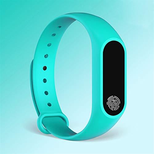 Sutinna Kinderspiele, Fitness-Armband mit Bluetooth-Erinnerung, Sport-Tracker, wasserdichtes Smartwatch for Mädchen und Jungen, kompatibel mit iOS Android (Color : Mint Green)