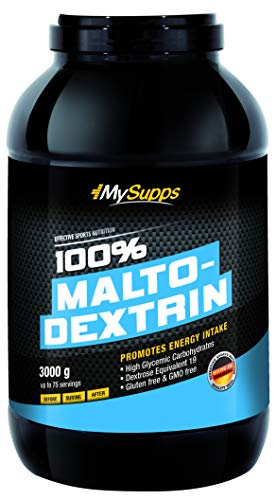 My Supps 100% Maltodextrin Neutral ohne Zusätze – Pre & Post Workout Shake - Feines Kohlenhydratpulver - vegan, GMO Frei & Gluten Frei - Fitness, Powerlifting & Bodybuilding - Made in Germany (3 kg)