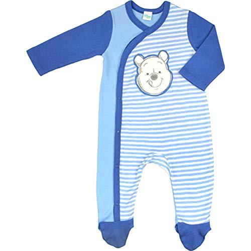 Disney Winnie Puh Baby Kleinkind Jungen Overall Gesicht, weiß-blau (74/80)