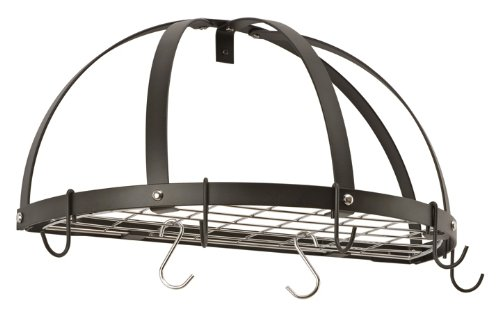 Half Dome Pot Rack w/Grid in Hammered Copper