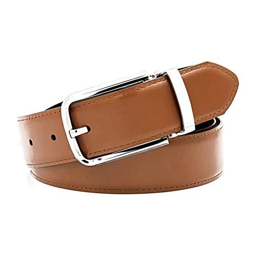 RXBGPZPD Cinturón de Cuero Famosas Marcas para Hombre Cinturones De Lujo Pin Hebilla De Cuero Genuino Hechos A Mano Hebillas De Cinturón para Hombres Cuatro Colores