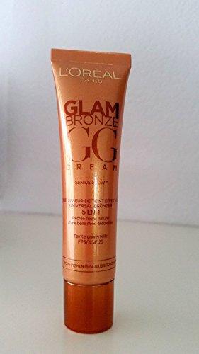 L'Oréal - Fond de teint Glam Bronze GG Cream 5 en 1 - Teinte universelle