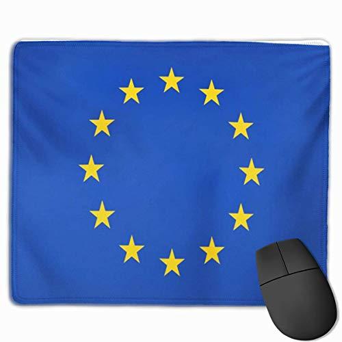 Bonita alfombrilla de ratón para juegos, alfombrilla de escritorio, alfombrilla de ratón pequeña para ordenadores portátiles, alfombrilla de ratón Bandera de la Unión Europea Colores oficiales y propo