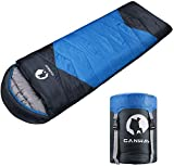 CANWAY Sleeping Bag with Compression Sack, Lightweight and Waterproof for Warm & Cold Weather, Comfort for 4...