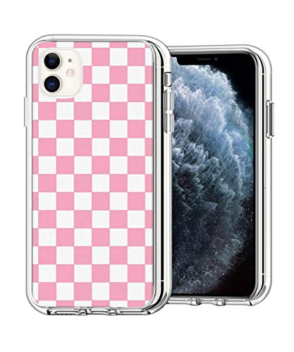 Case Phone Clear Anti-Scratch Motion Edition Pink Checkered Cases for iPhone 11