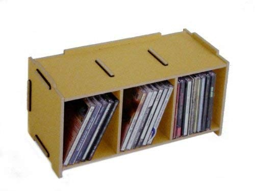 Werkhaus GmbH SON2053-03 Medienbox CD, Natur