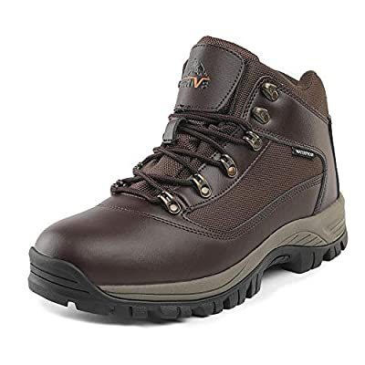 NORTIV 8 Men's Waterproof Hiking Boots Mid Outdoor Backpacking Trekking Trails Lightweight Shoes Brown Size 6.5 M US Mack_01