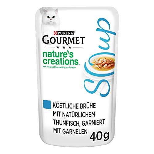 PURINA GOURMET Crystal Soup für Katzen mit naturbelassenem Thunfisch und Garnelen, 32er Pack (32 x 40g)