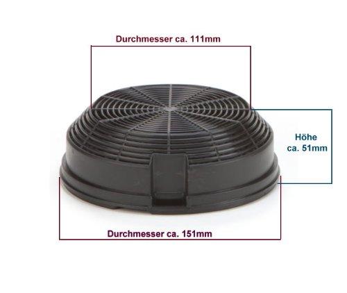 DREHFLEX® – Kohlefilter / Aktivkohlefilter – passend für Bauknecht-Whirlpool – Elica – AMC023 – passend für 481248048212 ersetzt 480122102341 - 4