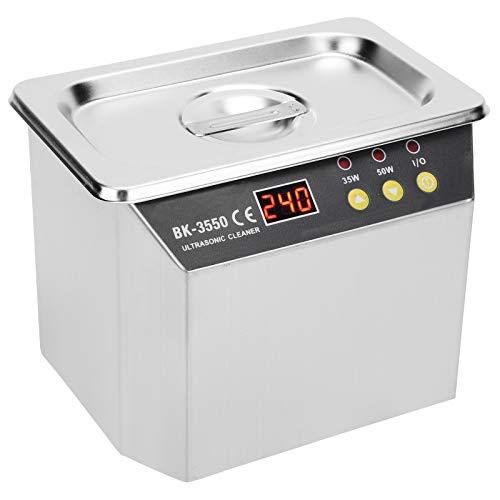 Ultraschallreiniger Reinigung Waschen High Power Portable für Schmuck Uhren Ringe Münzen Halsketten Waschmaschine BK-3550 0.8L((EU Plug 220V))