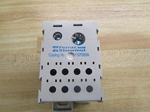 FERRAZ SHAWMUT FSPDB3A Power Distribution Block, Box/Box, 2 in/8 Out, 1POLE, 600V, 310A