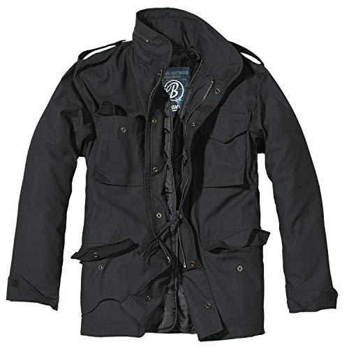 Brandit, M65 Field Jacket per Uomo Classic, Nero XXL
