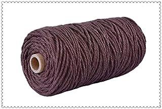 Wang shufang 1pc 3 mm Coton Cordon Cordon coloré Corde Beige Craft Twisted macramé chaîne de Bricolage Home Textile Mariag...