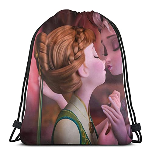 Bolsa de Deporte Gym Sack Frozen Mochila con cordón Ajustable Cinch Pack