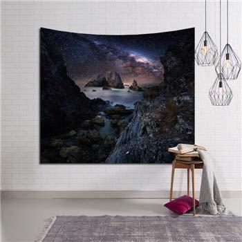 QZXCD wandtapijt, nieuwe mooie kaars, nachthemel, wandtapijt, hoofddecoratie, wandtapijt, bos, sterrenheldere tapijten, voor woonkamer en slaapkamer 150x130cm AH