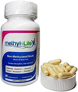 Methyl-Life Non-Methylated Multi-Vitamin 90 Capsules - Vegan, Gluten and Dairy Free