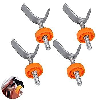 4 Pcs Filetées de Broche Tiges Barrières d'Escalier Broches Tiges Pression pour Porte de Sécurité Montées m10 pour barrière pour les Rampes d'escalier et les Portes de Sécurité pour Animaux Orange