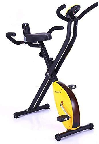 MRXW Bicicletas de Ejercicio de Bicicleta de Ejercicios en Bicicleta de Ejercicio en casa Spinning cojín Interior Suave con Respaldo, Herramienta Plegable aparatos de Ejercicios Plegable