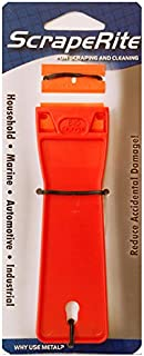 Scraperite Big Gripper Scraper with 2 Plastic Razor Blades (Orange)