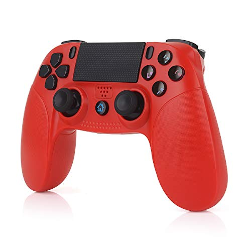 TUTUO Mando para PS4, Inalámbrico Gamepad Wireless Bluetooth Controlador Controller Joystick con Vibración Doble Remoto Compatible con Playstation 4/PS4 Slim/Pro and PS3/PC(Windows 7/8/10)