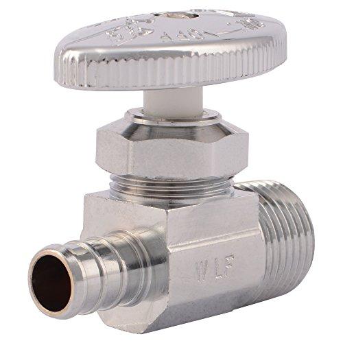 SharkBite 23061LF PEX Straight Shut Off Valve for Faucet or Toilet Installation MIP, 1/2-Inch x 1/2-Inch