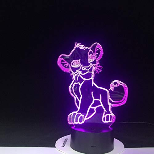 Dessin animé lion Simba lampe décoloration nouveauté lumière bébé chambre lampe de chevet cadeau de Noël maison