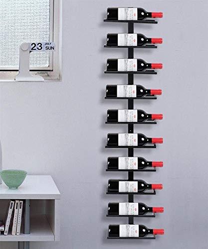 Catalpa Blume Weinregal Flaschenregal Flaschenhalter Aufbewahrungsregal aus Metall Schwarz Wandmontage für 10 Flaschen Wandregal Hängeregal