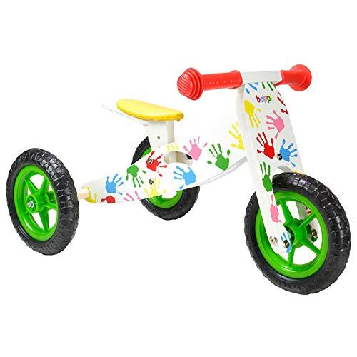 boppi® Triciclo de madera 2 en 1 - Bicicleta sin pedales - Manos estampadas