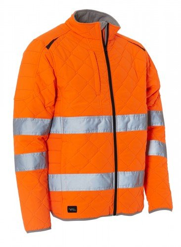 ELKA Thermo Jacke, Warnschutzjacke Warn-Steppjacke EN ISO 20471 ORANGE L