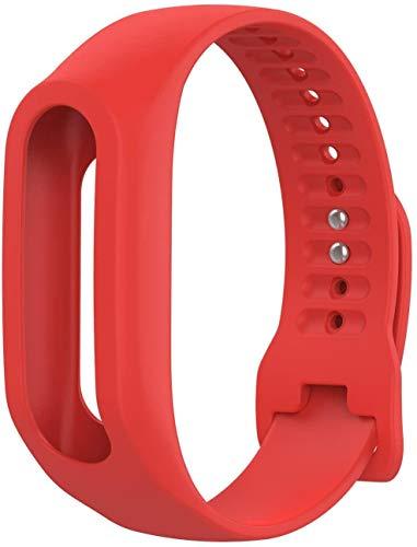 Pulsera de Repuesto Compatible con Tomtom Touch Red, Correa de Reloj Ajustable reemplazable en Silicona, 145-225 mm