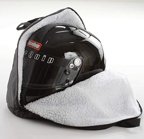 RaceQuip Helmet Bag Heavy Duty Oversize Fleece Lined Zippered Black 300003