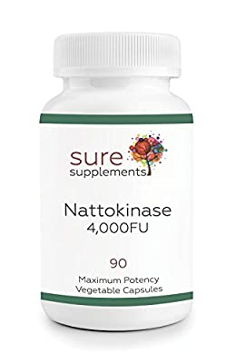 Nattokinase 4,000FU Vegetable Capsules - 90 Capsules from Sure Supplements